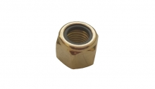 Гайка самоконтрящаяся DIN 982 аналог DIN 6924 шестигранная высокая с неметаллическим вкладышем - нейлоновым кольцом.